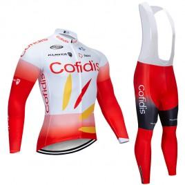Ensemble cuissard vélo et maillot cyclisme hiver pro COFIDIS 2019