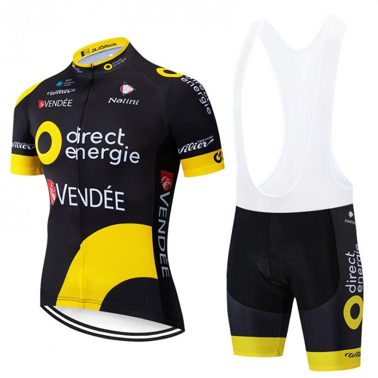 Ensemble cuissard vélo et maillot cyclisme pro Direct Energie 2019