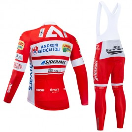 Ensemble cuissard vélo et maillot cyclisme hiver pro Androni Giocattoli 2019