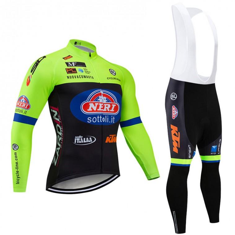 Ensemble cuissard vélo et maillot cyclisme hiver pro NERI - Selle Italia - KTM 2019