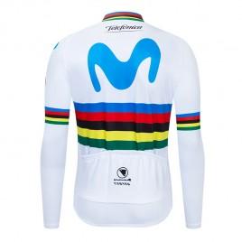 Maillot vélo hiver pro Movistar UCI 2019