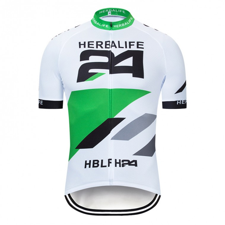 Maillot vélo équipe pro HERBALIFE 24 blanc - 2019
