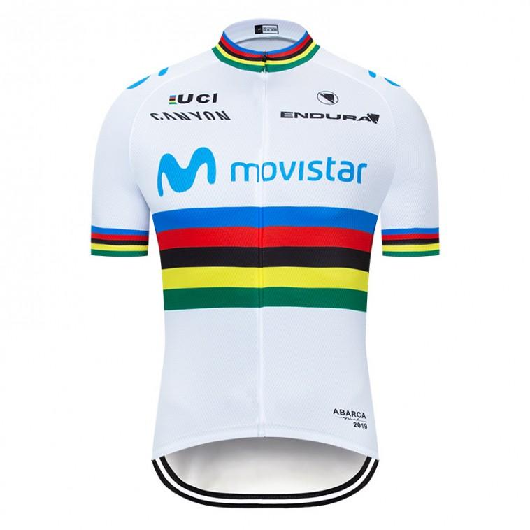 Maillot vélo équipe pro MOVISTAR UCI 2019