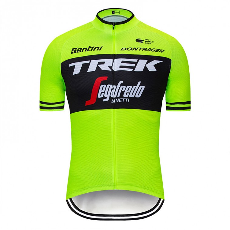 Maillot vélo équipe pro TREK Segafredo 2019 fluo