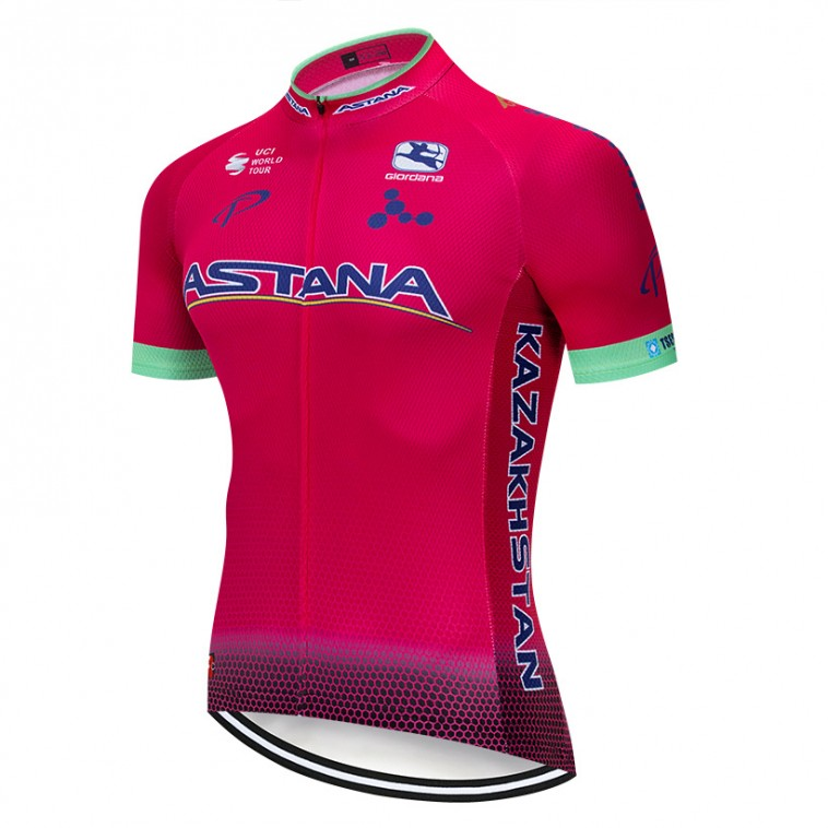 Maillot vélo équipe pro ASTANA 2019 Rose