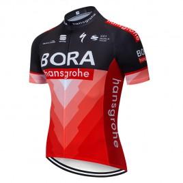 Maillot vélo équipe pro BORA Hansgrohe 2019 Rouge
