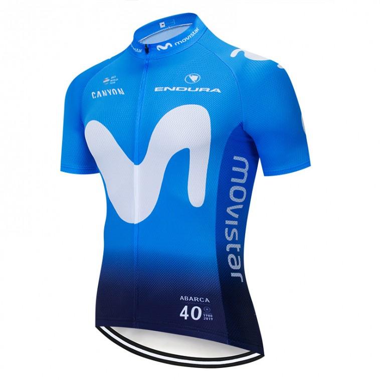 Maillot vélo équipe pro MOVISTAR 2019