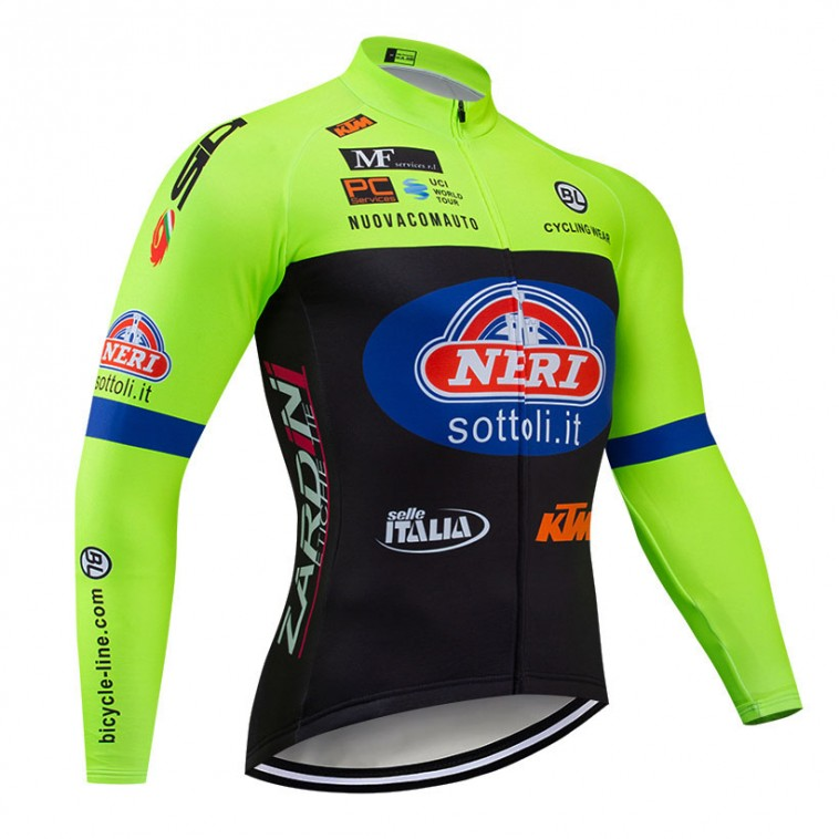 Maillot vélo hiver pro Neri Sottoli-Selle Italia-KTM 2019