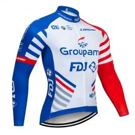 Maillot vélo hiver pro GROUPAMA FDJ 2019