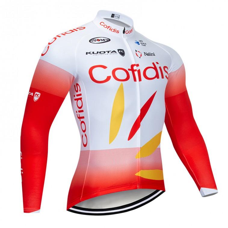 Maillot vélo hiver pro COFIDIS 2019