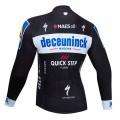 Maillot vélo hiver pro DECEUNINCK QUICK STEP 2019 Black Edition