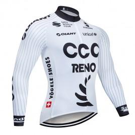 Maillot vélo hiver pro CCC RENO 2019 Blanc