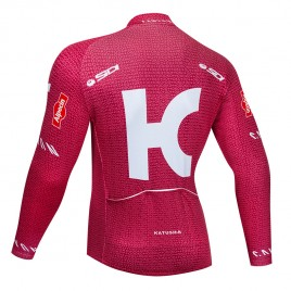 Maillot vélo hiver pro KATUSHA ALPECIN 2019 rouge