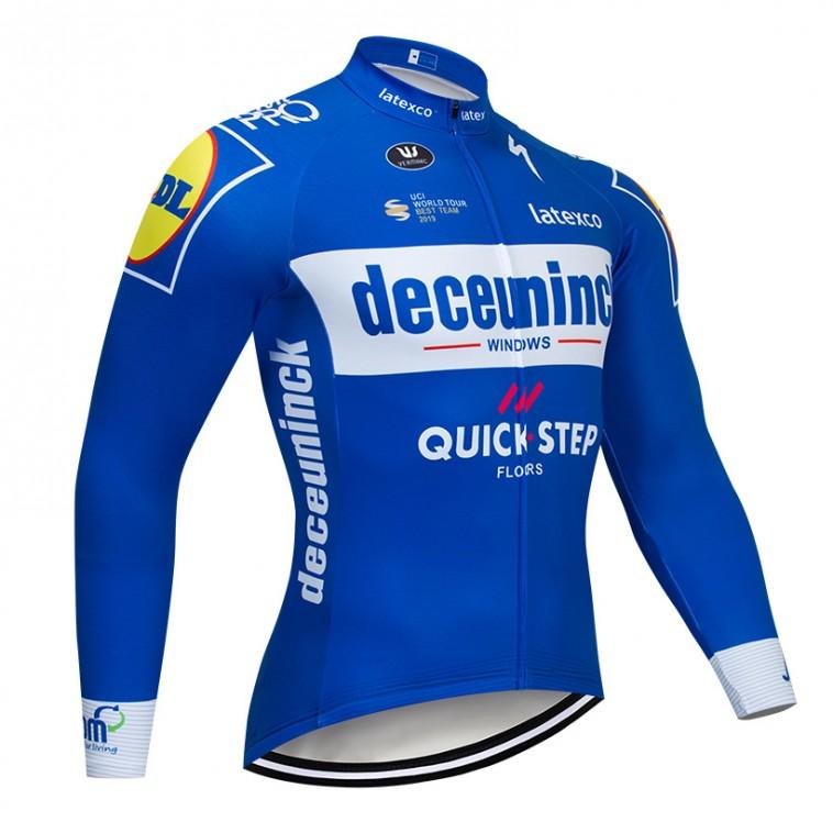 Maillot vélo hiver pro DECEUNINCK QUICK STEP 2019 Bleu