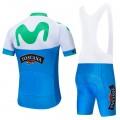 Ensemble cuissard vélo et maillot cyclisme pro MOVISTAR 2019 Giro Toscana