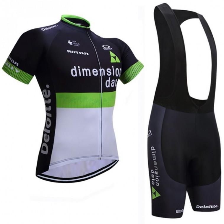 Ensemble cuissard vélo et maillot cyclisme équipe pro Dimension Data