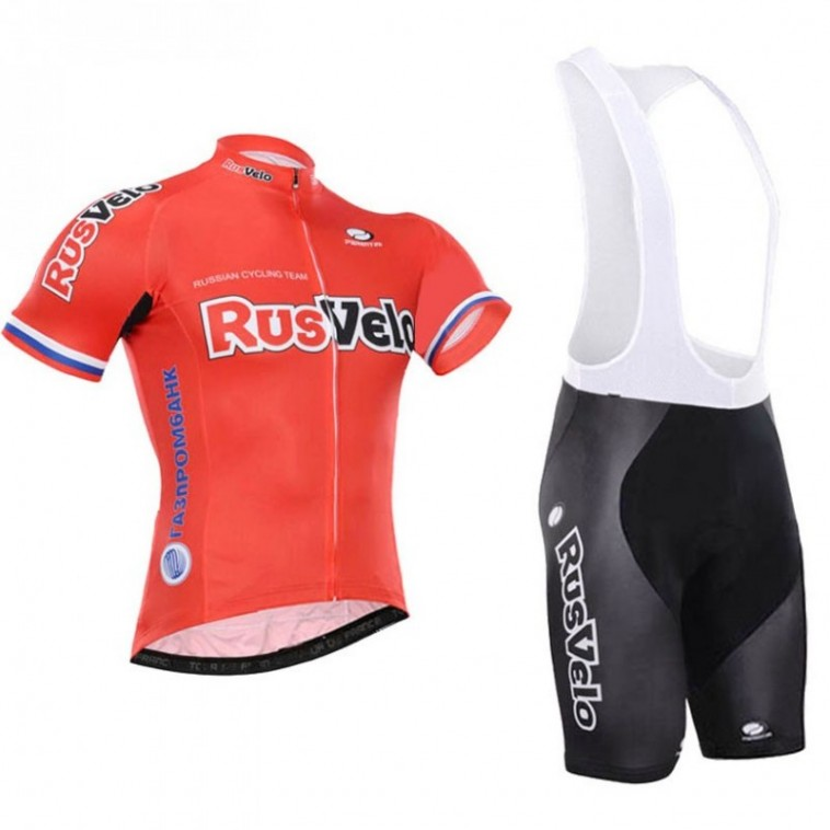 Ensemble cuissard vélo et maillot cyclisme équipe pro Rusvelo