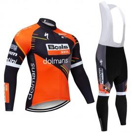 Ensemble cuissard vélo et maillot cyclisme hiver pro BOELS DOLMAN 2019