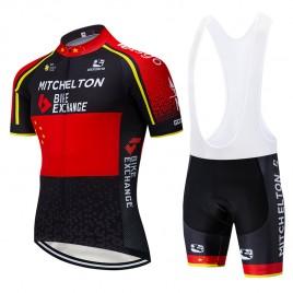 Ensemble cuissard vélo et maillot cyclisme équipe pro MICHELTON BikeExchange 2019
