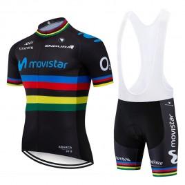 Ensemble cuissard vélo et maillot cyclisme équipe pro MOVISTAR UCI 2019