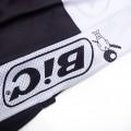 Ensemble cuissard vélo et maillot cyclisme pro vintage BIC noir
