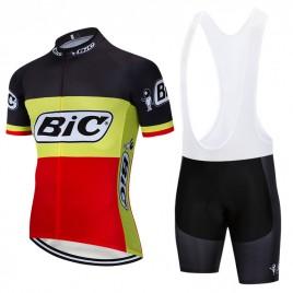 Ensemble cuissard vélo et maillot cyclisme pro vintage BIC belgique