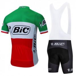 Ensemble cuissard vélo et maillot cyclisme pro vintage BIC Italie