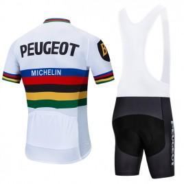 Ensemble cuissard vélo et maillot cyclisme pro vintage PEUGEOT UCI
