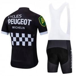 Ensemble cuissard vélo et maillot cyclisme pro vintage PEUGEOT MICHELIN
