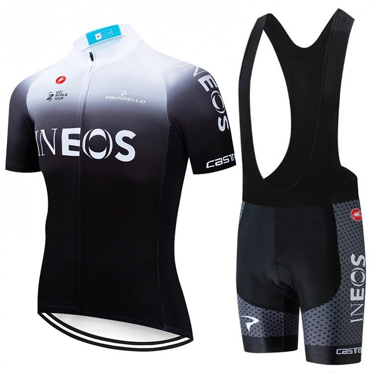 Ensemble cuissard vélo et maillot cyclisme équipe pro INEOS 2019 BW