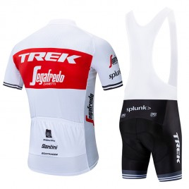 Ensemble cuissard vélo et maillot cyclisme équipe pro TREK Segafredo 2019 blanc