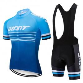 Ensemble cuissard vélo et maillot cyclisme pro Giant 2019 blue edition