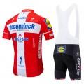 Ensemble cuissard vélo et maillot cyclisme équipe pro Deceuninck - Quick Step 2019 Champion Danois
