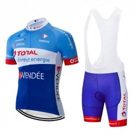 Ensemble cuissard vélo et maillot cyclisme équipe pro TOTAL Direct Energie 2019