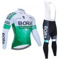 Ensemble cuissard vélo et maillot cyclisme hiver pro BORA 2019 Tour Edition
