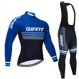 Ensemble cuissard vélo et maillot cyclisme hiver pro Giant 2019