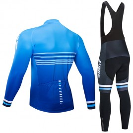 Ensemble cuissard vélo et maillot cyclisme hiver pro Giant 2019 blue edition