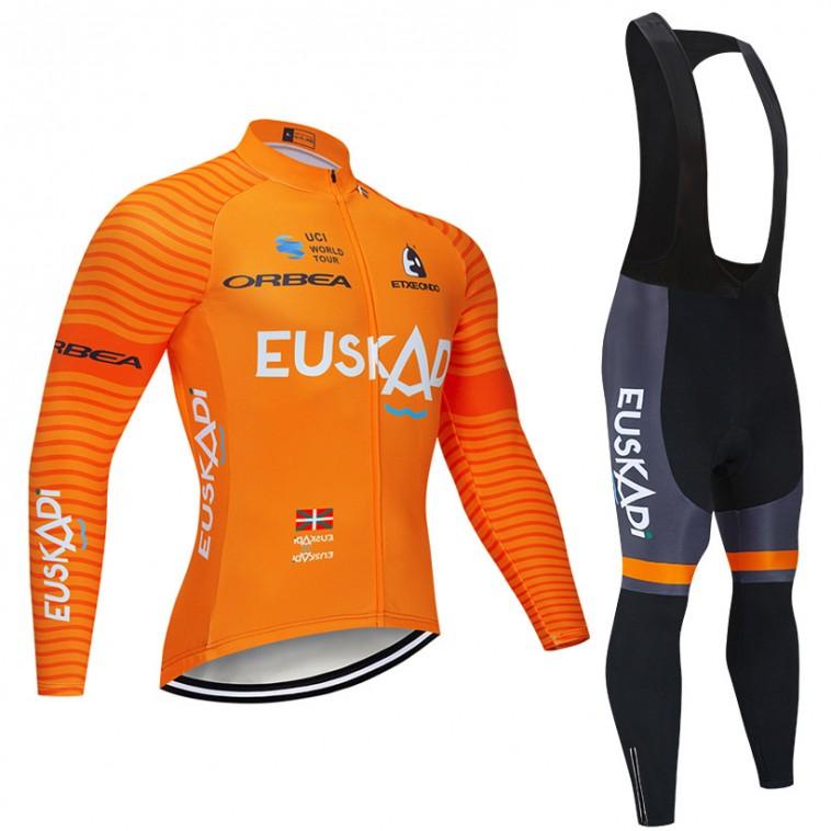 Ensemble cuissard vélo et maillot cyclisme hiver pro EUSKADI 2019