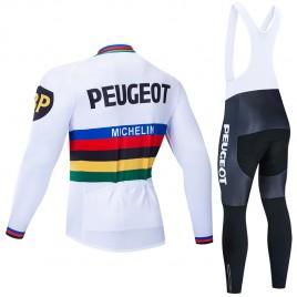Ensemble cuissard vélo et maillot cyclisme hiver pro PEUGEOT UCI