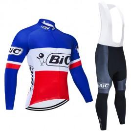Ensemble cuissard vélo et maillot cyclisme hiver pro vintage BIC France