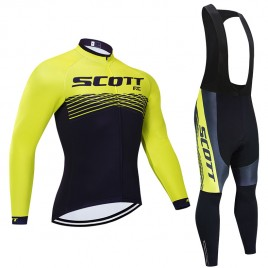 Ensemble cuissard vélo et maillot cyclisme hiver pro Scott Rc Team 2019