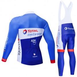 Ensemble cuissard vélo et maillot cyclisme hiver pro TOTAL Direct Energie 2019