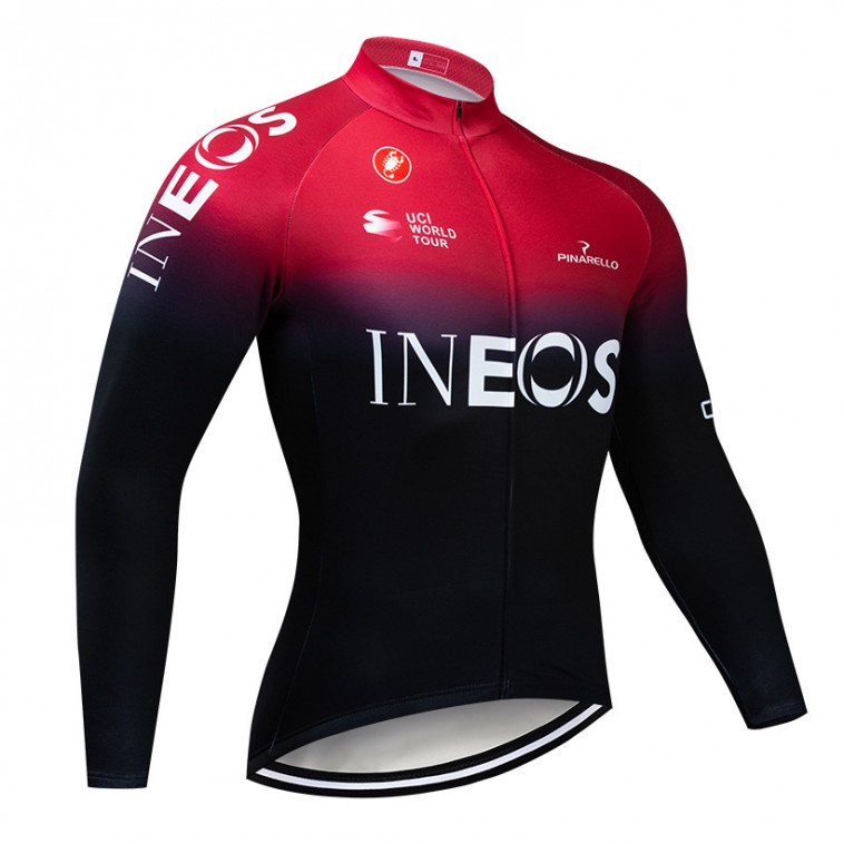 Maillot vélo hiver pro INEOS 2019