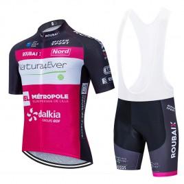 Ensemble cuissard vélo et maillot cyclisme équipe pro NATURA 4EVER 2020 Aero Mesh