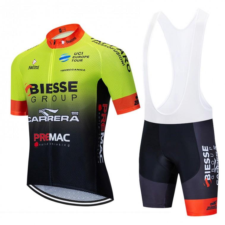 Ensemble cuissard vélo et maillot cyclisme équipe pro BIESSE Carrera Team Continental 2020 Aero Mesh
