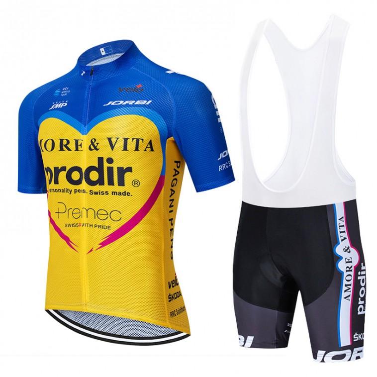 Ensemble cuissard vélo et maillot cyclisme équipe pro AMORE & VITA – PRODIR 2020 SE Aero Mesh