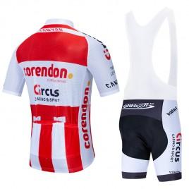 Ensemble cuissard vélo et maillot cyclisme équipe pro CORENDON CIRCUS 2020 Aero Mesh