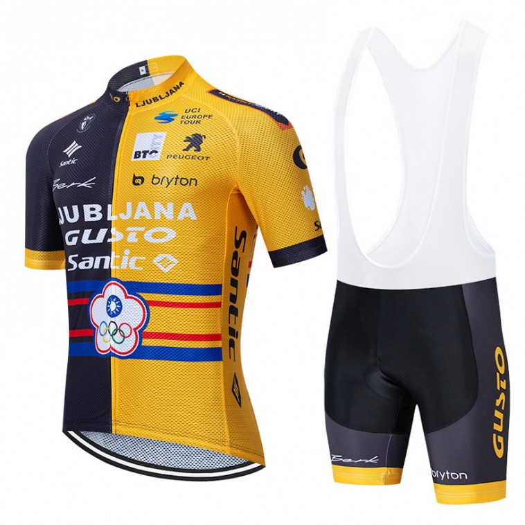 Ensemble cuissard vélo et maillot cyclisme équipe pro LGSC 2020 Aero Mesh