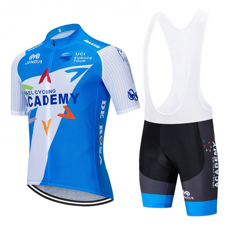 Ensemble cuissard vélo et maillot cyclisme équipe pro ISRAEL Cycling Academy 2019 Aero Mesh