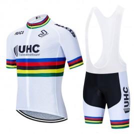 Ensemble cuissard vélo et maillot cyclisme équipe pro UHC 2020 UCI Aero Mesh